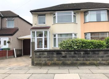Thumbnail 3 bed semi-detached house to rent in Okehampton Road, Childwall, Liverpool