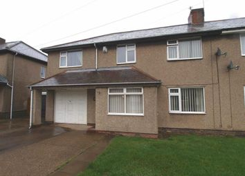 Thumbnail 5 bed semi-detached house for sale in Village Road, Cramlington