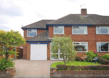 Thumbnail 4 bed semi-detached house for sale in Moore Avenue, Thelwall, Warrington