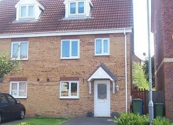 Thumbnail 3 bed town house to rent in Saffron Street, Forest Town, Mansfield