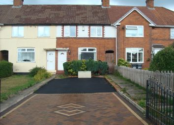 Thumbnail 3 bed terraced house to rent in Cliffrock Road, Rednal