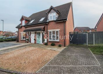 Thumbnail 2 bed semi-detached house for sale in Sobrite Way, Werrington, Peterborough