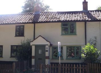 Thumbnail 2 bed terraced house for sale in Tacolneston, Norwich, Norfolk