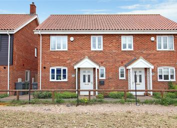 Thumbnail 3 bedroom semi-detached house for sale in Ponsonby Way, Poringland, Norwich, Norfolk