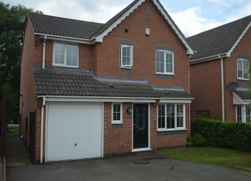 Thumbnail 4 bed detached house for sale in Cadeby Close, Hinckley