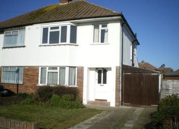 Thumbnail 3 bed semi-detached house to rent in Oak Avenue, Chichester