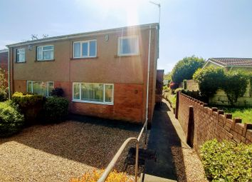 Thumbnail 3 bed semi-detached house for sale in Bowls Close, Penyrheol, Caerphilly