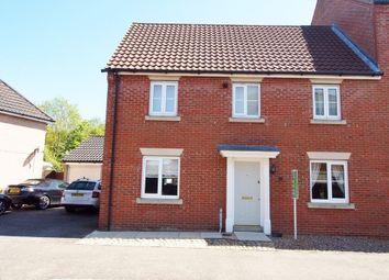 Thumbnail 3 bed semi-detached house for sale in Burdock Close, Wymondham