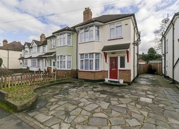 Thumbnail 3 bed semi-detached house for sale in Danetree Road, West Ewell, Surrey