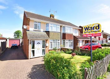 Thumbnail 3 bed semi-detached house for sale in Lynton Drive, Lords Wood, Chatham, Kent
