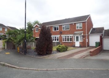 Thumbnail 3 bed semi-detached house for sale in Julius Drive, Coleshill, Birmingham, Warwickshire