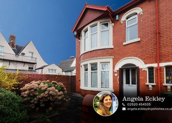 Thumbnail 3 bedroom end terrace house for sale in St. Margarets Crescent, Roath, Cardiff