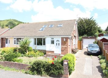Thumbnail 3 bed semi-detached bungalow for sale in Downs Road, Folkestone, Kent