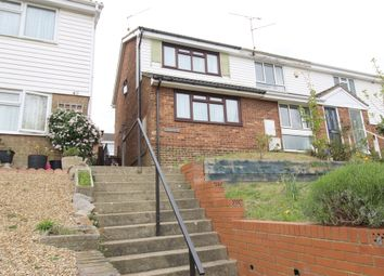 Thumbnail 2 bed end terrace house for sale in Nightingale Close, Rainham, Kent.