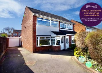 Thumbnail 3 bed semi-detached house for sale in Treasure Close, Tamworth
