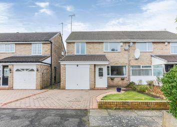 Thumbnail 3 bed semi-detached house for sale in Wraysbury Court, Kingston Park, Newcastle Upon Tyne