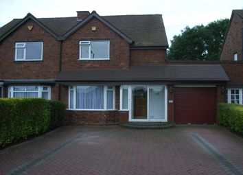 Thumbnail 3 bed semi-detached house to rent in Slade Road, Sutton Coldfield