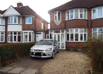 Thumbnail 3 bed semi-detached house for sale in Wellsford Avenue, Solihull, West Midlands