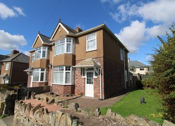 Thumbnail 3 bed semi-detached house for sale in Glentor Road, Hartley, Plymouth