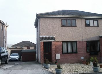 Thumbnail 2 bed semi-detached house to rent in The Hollies, Brackla, Bridgend