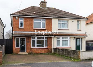 Thumbnail 3 bed semi-detached house to rent in Gladstone Road, Hoddesdon, Hertfordshire