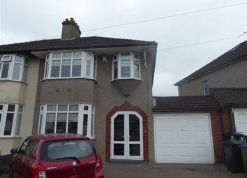 Thumbnail 3 bed semi-detached house for sale in Brampton Road, Bexleyheath, Kent