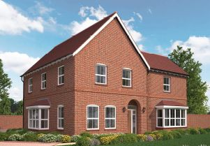 Thumbnail 4 bed detached house for sale in The Broughton, Lloyd Way, Kimpton, Hertfordshire