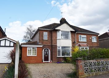 Thumbnail 4 bedroom semi-detached house for sale in Reepham Road, Hellesdon, Norwich