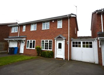 Thumbnail 2 bed semi-detached house to rent in Crowland Avenue, Perton, Wolverhampton