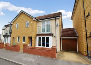 Thumbnail 3 bed semi-detached house for sale in Hunsbury Chase, Broughton, Milton Keynes, Buckinghamshire