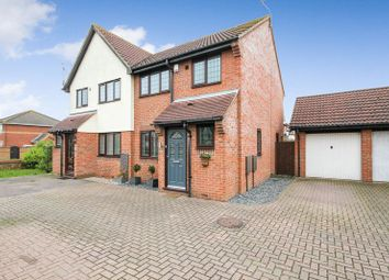 Thumbnail 3 bed semi-detached house for sale in Coburg Lane, Langdon Hills, Basildon