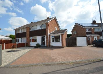 Thumbnail 3 bed semi-detached house for sale in Tyringham Road, Wigston Meadows, Leicester