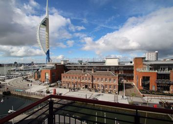 Thumbnail 3 bed flat to rent in The Canalside, Gunwharf Quays, Portsmouth