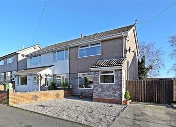 Thumbnail 2 bed semi-detached house to rent in Byron Avenue, Beddau, Pontypridd