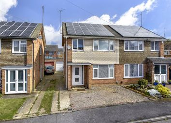 Thumbnail 3 bed semi-detached house for sale in Wicksteed Close, Kettering, Northamptonshire