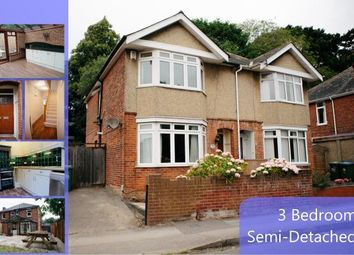 Thumbnail 3 bed semi-detached house to rent in Osborne Road South, Portswood, Southampton