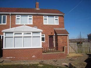 Thumbnail 2 bed semi-detached house to rent in Braunespath Estate, New Brancepeth, Durham