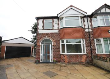 Thumbnail 3 bedroom semi-detached house for sale in Ashley Avenue, Urmston, Manchester