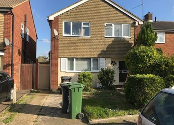Thumbnail 3 bed semi-detached house to rent in Percheron Drive, Luton