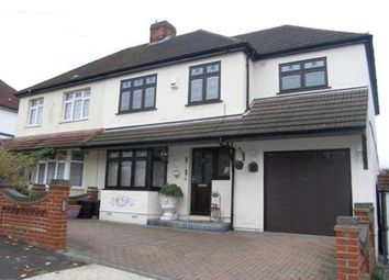 Thumbnail 5 bed semi-detached house to rent in Woodstock Avenue, Romford