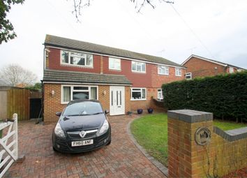 Thumbnail 5 bed semi-detached house for sale in Hithermoor Road, Staines-Upon-Thames, Surrey