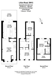 Thumbnail 3 bed terraced house to rent in Lillian Road, London