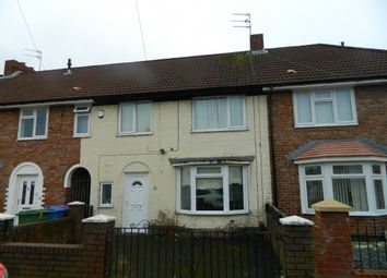 Thumbnail 3 bed terraced house to rent in Felmersham Avenue, Liverpool