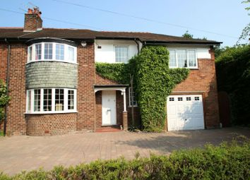 Thumbnail 4 bed semi-detached house to rent in The Drive, Hale Barns, Altrincham
