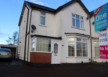 Thumbnail 3 bed semi-detached house to rent in Uttoxeter Road, Mickleover, Derby