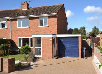 Thumbnail 3 bed semi-detached house for sale in Clinton Close, Budleigh Salterton, Devon