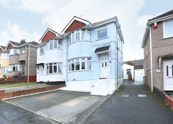 Thumbnail 3 bedroom semi-detached house for sale in Manor Road, Plymstock, Plymouth