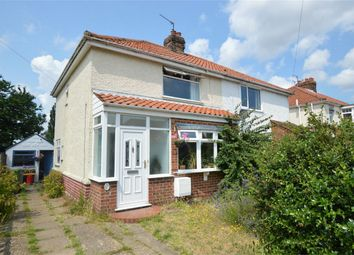 Thumbnail 3 bed semi-detached house for sale in Neville Road, Sprowston, Norwich