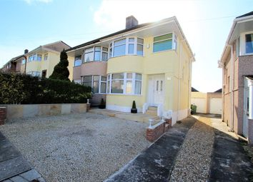 Thumbnail 3 bed semi-detached house to rent in Churchway, Plymouth