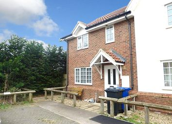 Thumbnail 3 bedroom end terrace house to rent in Heath Court, Beck Row, Bury St. Edmunds